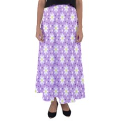 Daisy Dots Lilac Flared Maxi Skirt