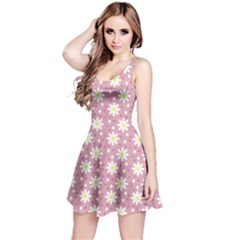 Daisy Dots Pink Reversible Sleeveless Dress