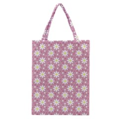 Daisy Dots Pink Classic Tote Bag