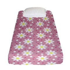 Daisy Dots Pink Fitted Sheet (single Size)