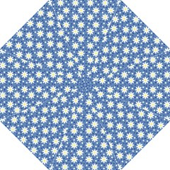 Daisy Dots Blue Folding Umbrellas