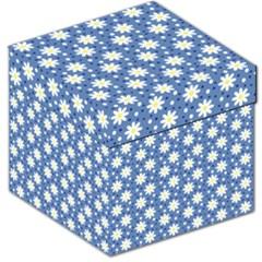 Daisy Dots Blue Storage Stool 12