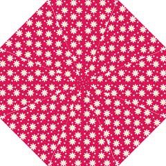 Daisy Dots Light Red Hook Handle Umbrellas (medium)