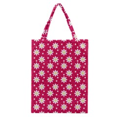 Daisy Dots Light Red Classic Tote Bag