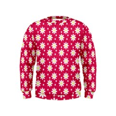 Daisy Dots Light Red Kids  Sweatshirt