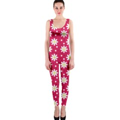 Daisy Dots Light Red Onepiece Catsuit