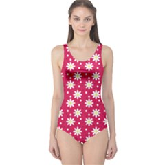 Daisy Dots Light Red One Piece Swimsuit