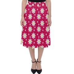Daisy Dots Light Red Folding Skater Skirt