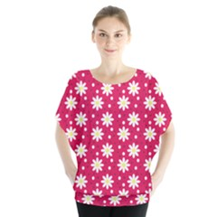 Daisy Dots Light Red Blouse
