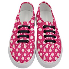 Daisy Dots Light Red Women s Classic Low Top Sneakers