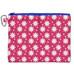 Daisy Dots Light Red Canvas Cosmetic Bag (xxl)