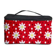 Daisy Dots Red Cosmetic Storage Case