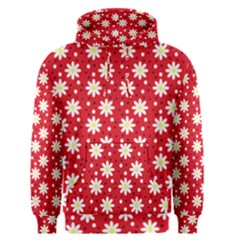 Daisy Dots Red Men s Pullover Hoodie