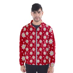 Daisy Dots Red Wind Breaker (men)