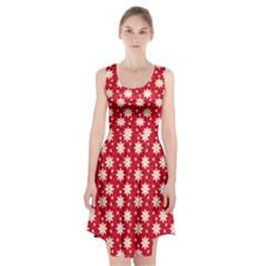 Daisy Dots Red Racerback Midi Dress