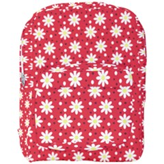 Daisy Dots Red Full Print Backpack