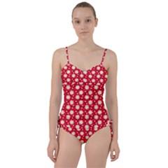 Daisy Dots Red Sweetheart Tankini Set