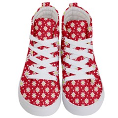 Daisy Dots Red Kid s Hi Top Skate Sneakers