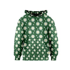 Daisy Dots Green Kids  Pullover Hoodie