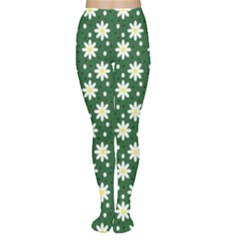 Daisy Dots Green Women s Tights