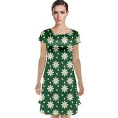 Daisy Dots Green Cap Sleeve Nightdress