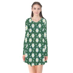 Daisy Dots Green Flare Dress