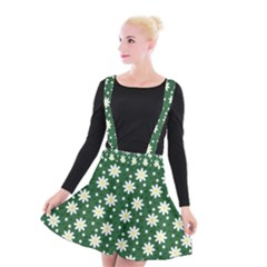 Daisy Dots Green Suspender Skater Skirt