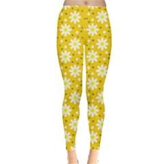 Daisy Dots Yellow Leggings