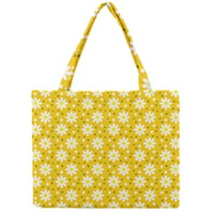Daisy Dots Yellow Mini Tote Bag