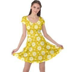 Daisy Dots Yellow Cap Sleeve Dress