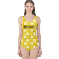 Daisy Dots Yellow One Piece Swimsuit