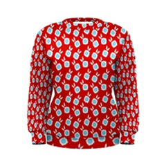 Square Flowers Red Women s Sweatshirt