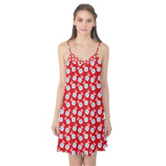 Square Flowers Red Camis Nightgown