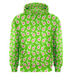 Square Flowers Green Men s Pullover Hoodie