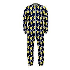 Square Flowers Navy Blue Onepiece Jumpsuit (kids)