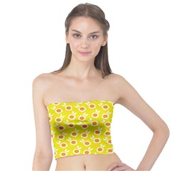 Square Flowers Yellow Tube Top