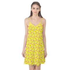 Square Flowers Yellow Camis Nightgown