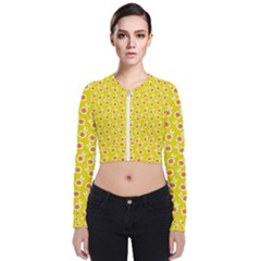 Square Flowers Yellow Bomber Jacket