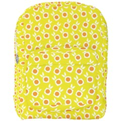 Square Flowers Yellow Full Print Backpack