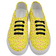 Square Flowers Yellow Women s Classic Low Top Sneakers