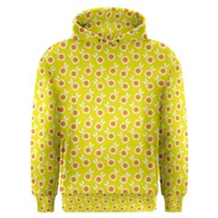 Square Flowers Yellow Men s Overhead Hoodie