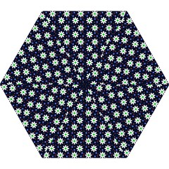 Daisy Dots Navy Blue Mini Folding Umbrellas