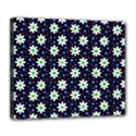 Daisy Dots Navy Blue Deluxe Canvas 24  x 20   View1