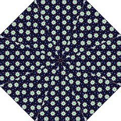 Daisy Dots Navy Blue Hook Handle Umbrellas (large)