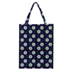 Daisy Dots Navy Blue Classic Tote Bag