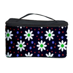 Daisy Dots Navy Blue Cosmetic Storage Case