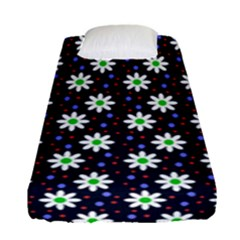 Daisy Dots Navy Blue Fitted Sheet (single Size)