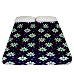Daisy Dots Navy Blue Fitted Sheet (california King Size)
