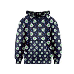 Daisy Dots Navy Blue Kids  Pullover Hoodie