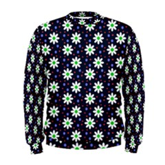 Daisy Dots Navy Blue Men s Sweatshirt